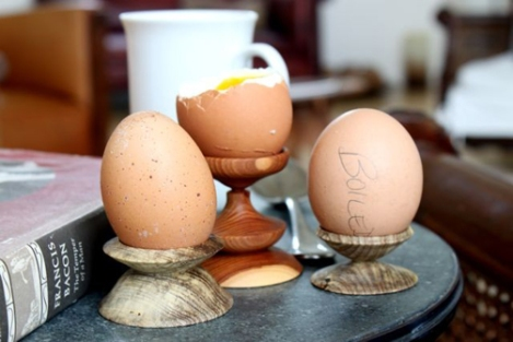 Pedestal para huevos