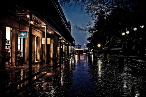 Calle en lluvia