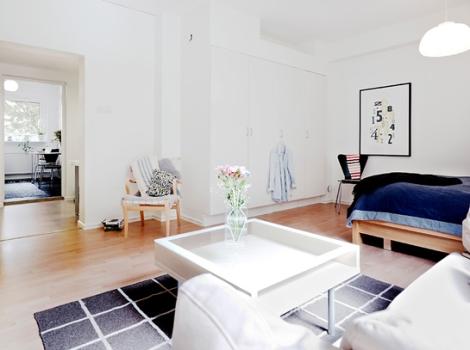 Apartamento de 45 m2 - vista salón 2