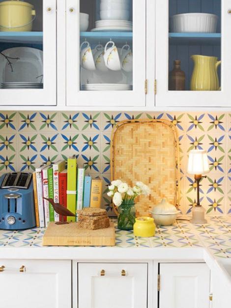 Cocina con azulejos 1