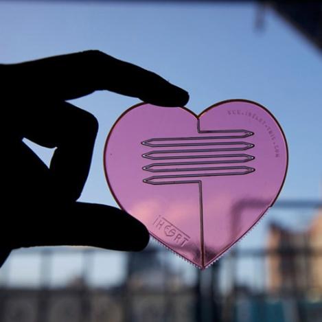 Set de utensilios corazón 3