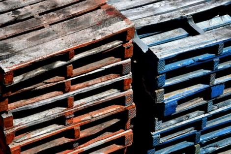 Pallets de madera sin tratar