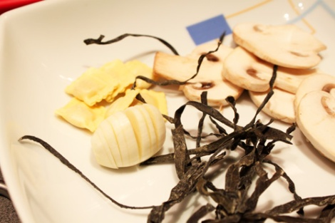 Ingredientes para preparar raviolis de mar