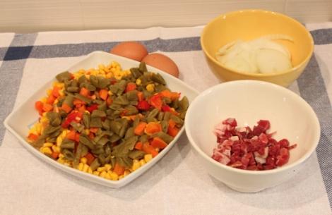 Ingredientes del pastel de verduras
